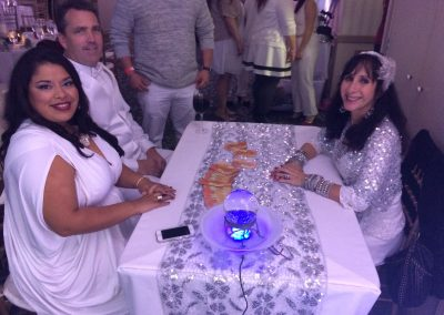 All White Company party with crystal ball and tarot card readings