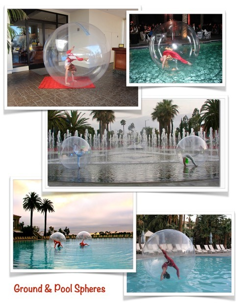 ground and pool spheres for parties
